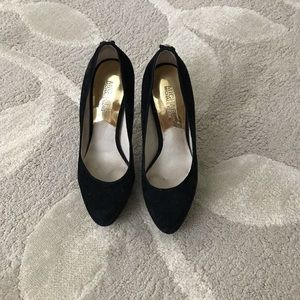 Michael Kors black suede pumps